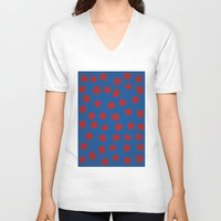 dots V-neck T-shirts featuring dots by MARI EBINE