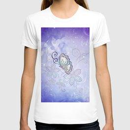 Bautiful butterflies with flowers T-shirt