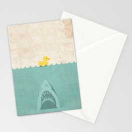 Jaws Rubber Duck Quack  Stationery Cards