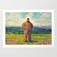 action bronson Art Prints featuring Action Bronson - Supreme Leader by Maxillustration