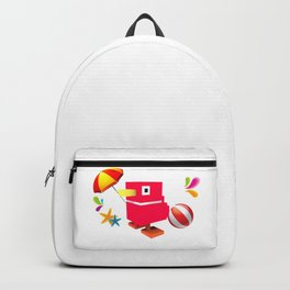 Duck Royale 3D - Game Paused Design Backpack