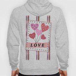 Bright hearts.Love , Valentine's day Hoody