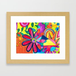 Burst of colours in Spring Framed Art Print