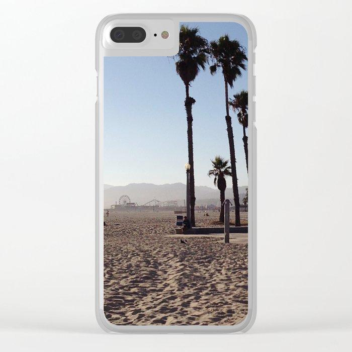 Santa Monica Beach in California Clear iPhone Case