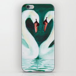Swans Flirt iPhone Skin