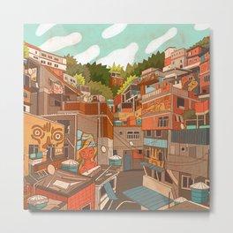Favela Metal Print