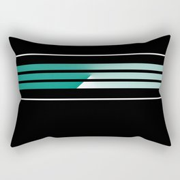 Team Colors 5....teal, black and white Rectangular Pillow