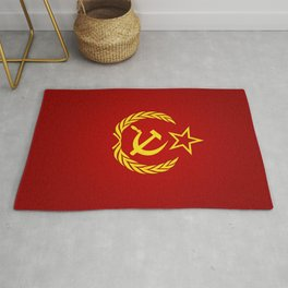Hammer and Sickle Textured Flag Rug