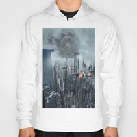 sci fi Hoodies featuring Sci-Fi City by Michael Lenehan