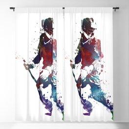 Lacrosse player art 3 Blackout Curtain