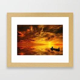 Big sky off the Florida Keys Framed Art Print
