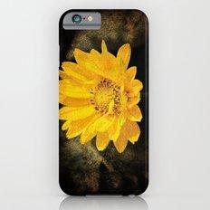 Beautiful Sunflower with Dark Brown Background Slim Case iPhone 6s