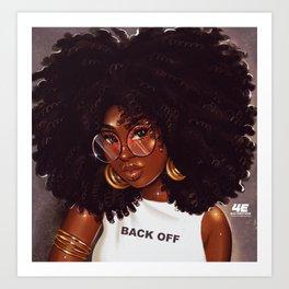 Back Off Art Print