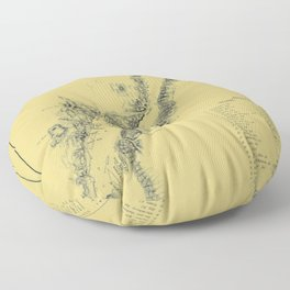 Map of Lake George 1855 Floor Pillow