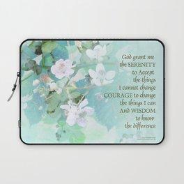 Serenity Prayer Blackberry Blossoms Laptop Sleeve