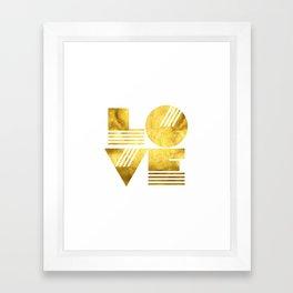 LOVE Typography Art Framed Art Print