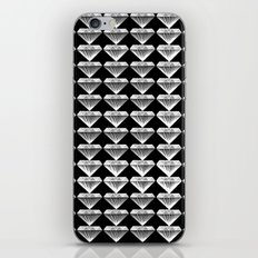 Diamonds Pattern - Black and White and Grey iPhone & iPod Skin