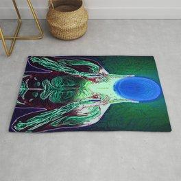 MIND #1 Psychedelic Meditation Vibrant Ethereal Design Rug