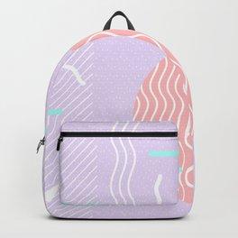 Memphis Summer Lavender Waves Backpack