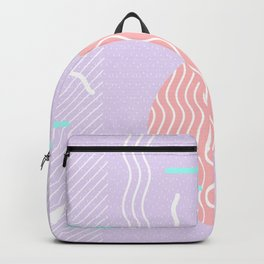 Memphis Summer Lavender Waves Backpack