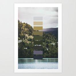 The sea, the land, the mountains Art Print