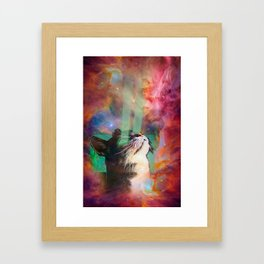 The Ancient Cat Thinking About The Early Days Framed Art Print