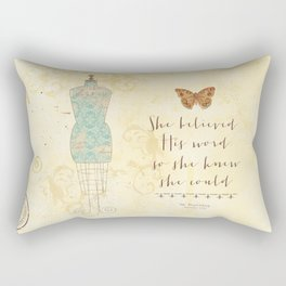 She Believed His Word Rectangular Pillow