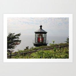 The Red Beacon On Tillamock Bay Art Print
