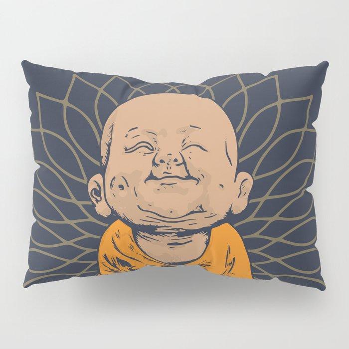Be Happy Little Buddha Pillow Sham