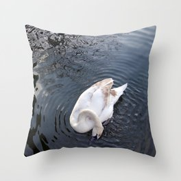 Coy Swan Throw Pillow