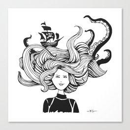 """"""" Sea Battle"""" Hair Canvas Print"""