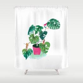 Chesplant fun Shower Curtain