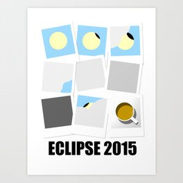 Eclipse 2015 Art Print