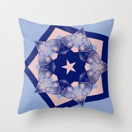 Tilting Serenity Rose Quartz Star Throw Pillow