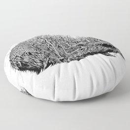 Leaf Hedgehog Floor Pillow