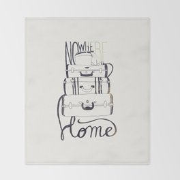 Nowhere Home Throw Blanket