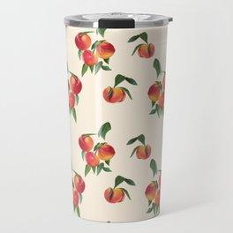 Peaches, Apricots on Creamy White Background Travel Mug