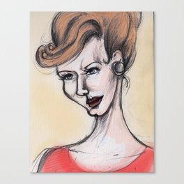 Joan Holloway Canvas Print