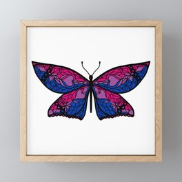 Fly With Pride: Bisexual Flag Butterfly Framed Mini Art Print