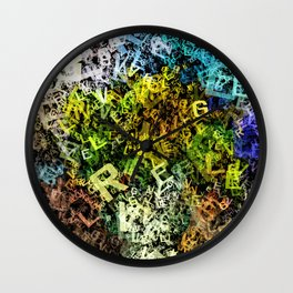 letter sunflowers Wall Clock