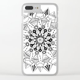 Mandala Series 03 Clear iPhone Case