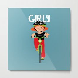 Positively Girly - biker Metal Print