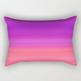 Orange & Purple Stripes | Bright ombre gradient pattern Rectangular Pillow