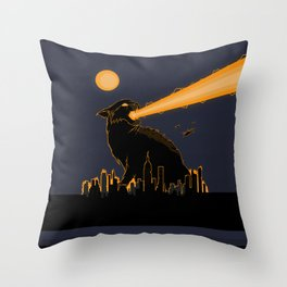 Cat-astrophe Throw Pillow
