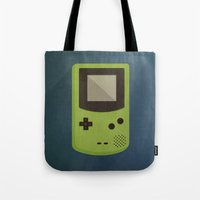gameboy Tote Bags featuring GameBoy by Beardy Graphics