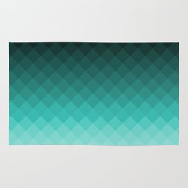 Ombre squares Rug
