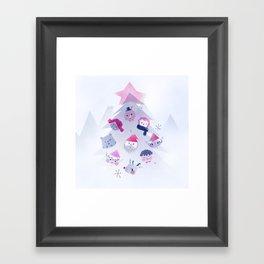 Christmas card Framed Art Print