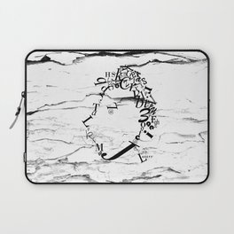 Typeface distressed Laptop Sleeve