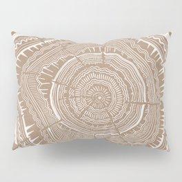 Tree Rings – White Ink on Kraft Pillow Sham