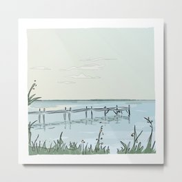 the transparant pier Metal Print